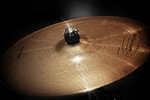 Close up of a drumset cymbal