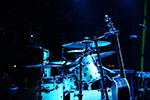 Full drum set in blue light