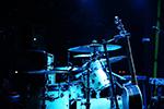 Full drum set in blue light