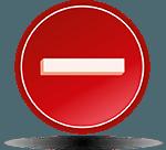 negative battery terminal symbol