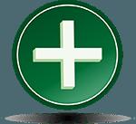 positive battery terminal symbol