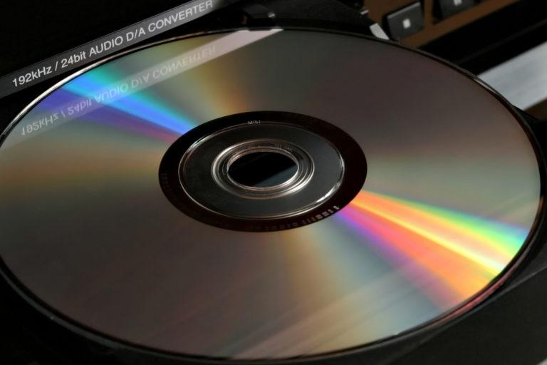 A dvd in a dvd player.