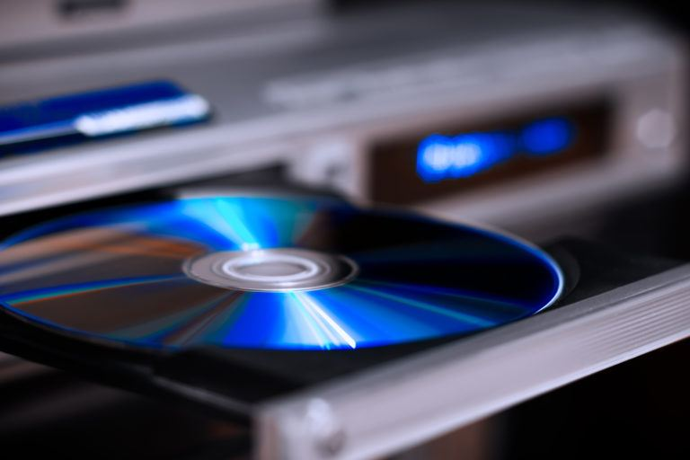 An open dvd player.
