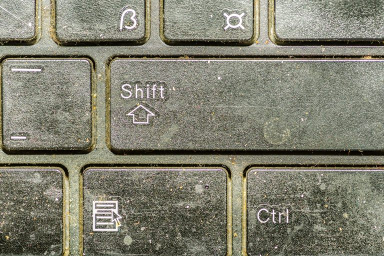 A very dirty keyboard.