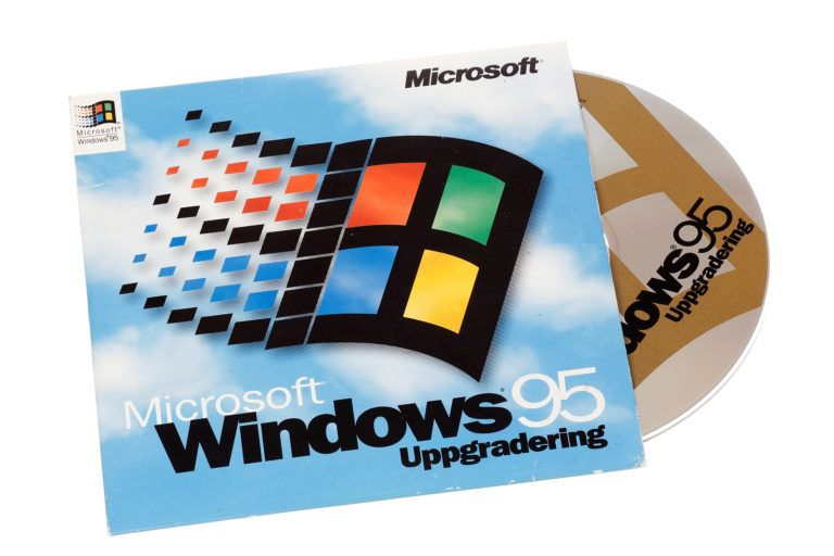 A Microsoft Windows 96 software suite CD-ROM.