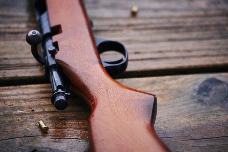 A .22 rifle.