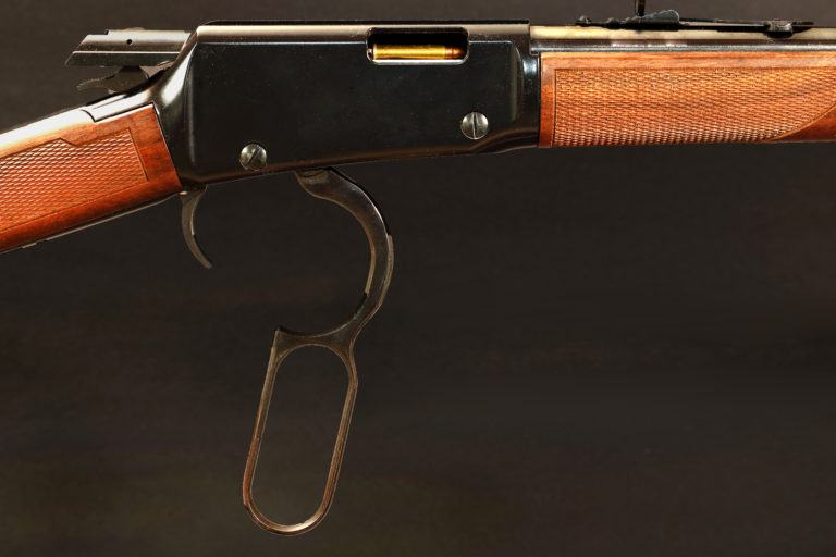 A lever action rifle.