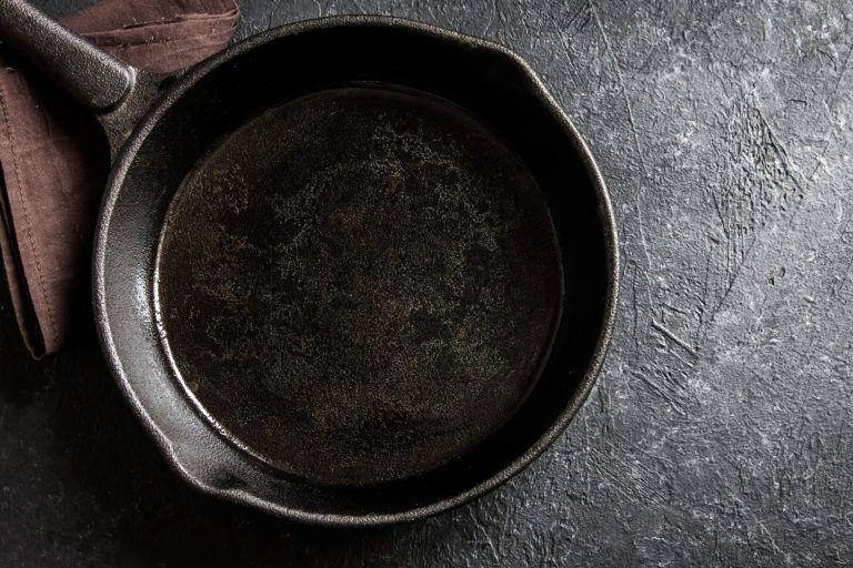 A cast iron skillet.
