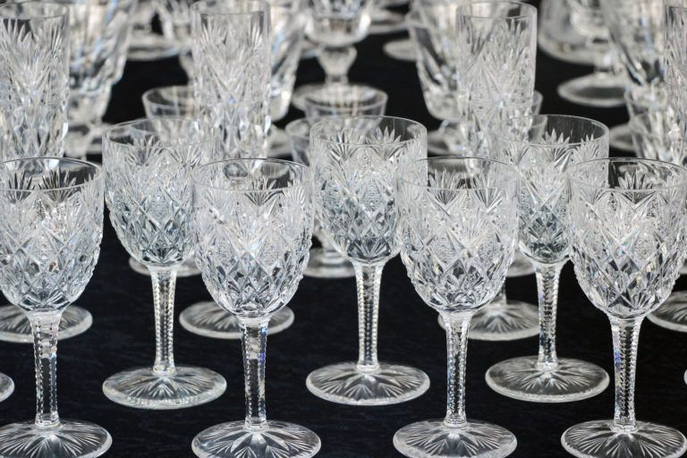 Crystal glasses.