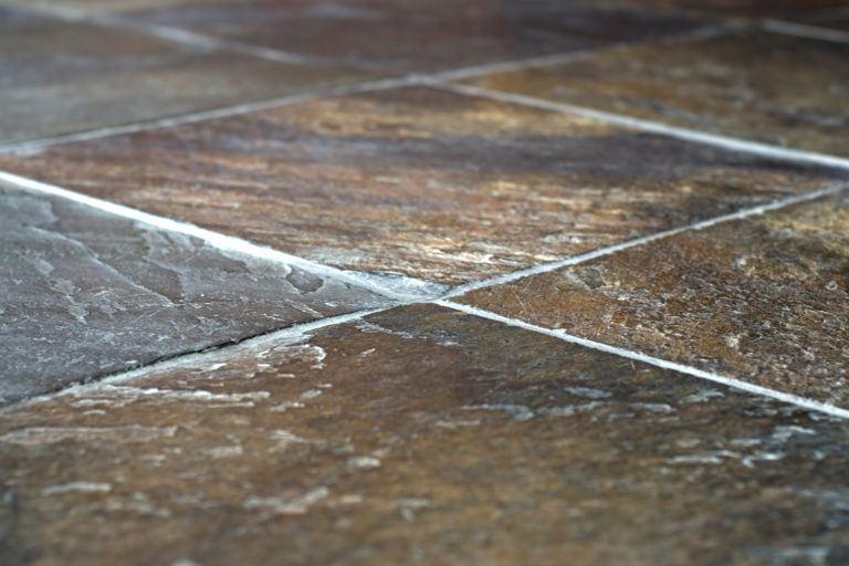 A slate tiled floor.
