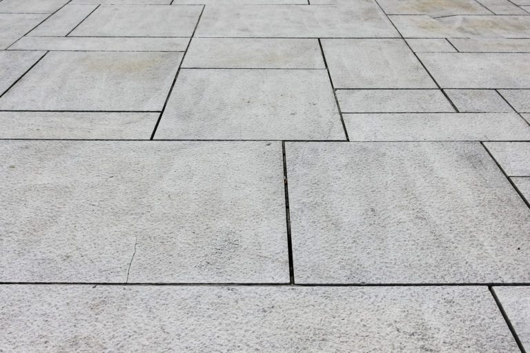 A stone tiled surface.