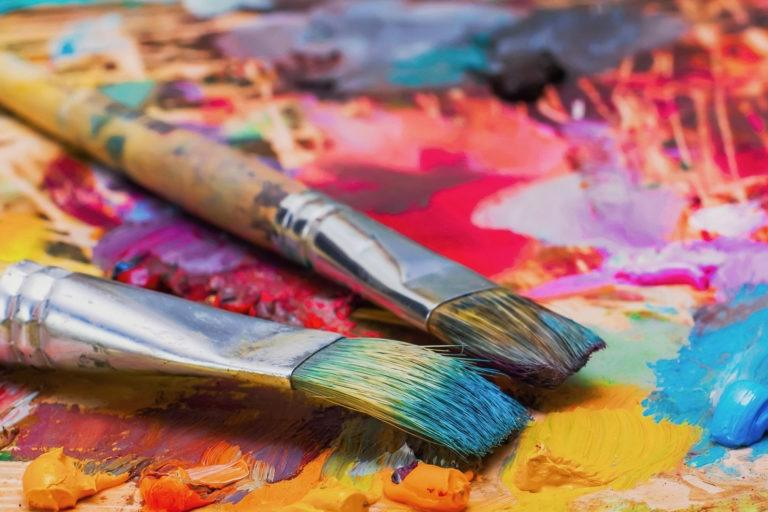 Image result for paint brushes and paint